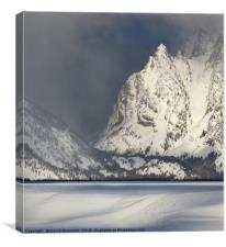 Clearing Winter Storm, Grand Tetons, Wyoming, USA, Canvas Print
