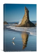 Chokng Call and Witch's Hat, Bandon, Oregon, USA, Canvas Print