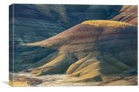 Painted Shadows, Painted Hills of Oregon, USA, Canvas Print