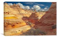 Sandstone Wash, Coyote Buttes, Southern Utah, USA, Canvas Print
