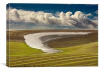Snowmelt and Sky, Palouse, Washington, USA, Canvas Print