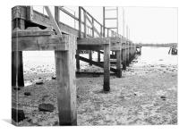 Black & White Pier, Canvas Print
