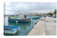 Marsaxlokk Malta, Canvas Print