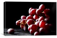 Red Grapes, Canvas Print