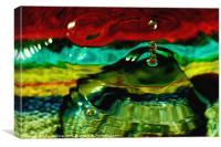 Psychedelic Drop, Canvas Print