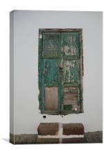 The Green Door, Canvas Print