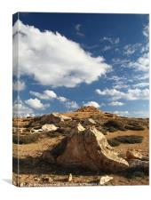 Rocks and Sky, Canvas Print