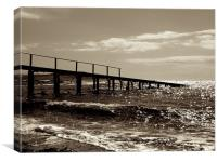 Old Pier, Canvas Print