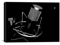 Microphone, Canvas Print