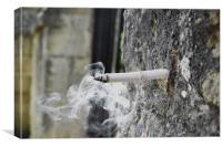 Smoking wall, Canvas Print