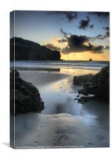 Trevaunance Cove Sunset, St Agnes, Canvas Print