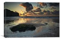 Sunset at Trevaunance Cove, St Agnes
