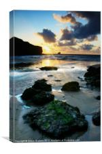 Trevaunance Cove in Portrait, Cornwall, Canvas Print