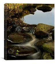 Padley Gorge,Winding Water, Canvas Print
