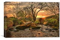 Padley Sunrise, Canvas Print