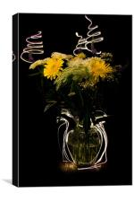 Electric Blooms, Canvas Print
