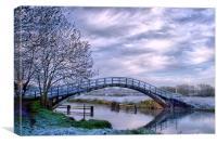 Sileby Mill Bridge, Canvas Print