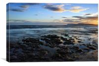 Low Tide at Brook Chine, Canvas Print