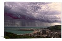 Storm over the Channel, Canvas Print