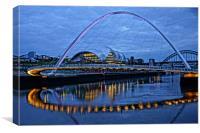 Millennium Bridge Painting, Canvas Print