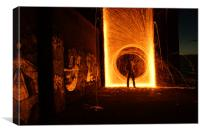 Wire Wool Spinning, Canvas Print