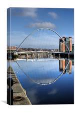 The Mirror Tyne, Canvas Print