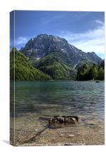 Lago di Predil, Canvas Print