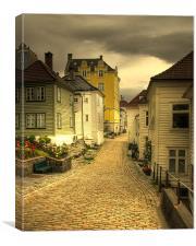 Bergen yellow brick road. , Canvas Print
