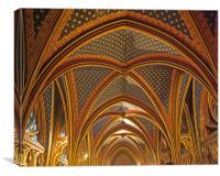 Sainte-Chapelle vaulted roof, Canvas Print