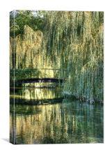 Willow Bridge, Canvas Print