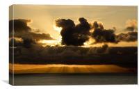 Sun rays, Canvas Print