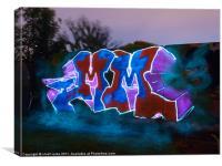 light graffiti, Canvas Print