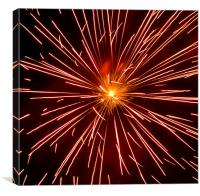 warp speed, Canvas Print