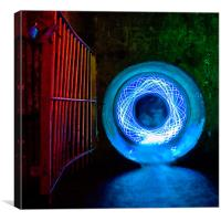 Abstract Urban Light Painting, Canvas Print