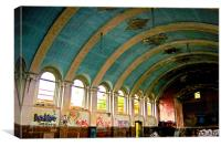 The Derelict Ballroom, Canvas Print