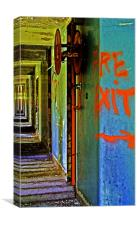 Fire Exit - Urban Exploration, Canvas Print