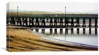 Amble Harbour , Northumberland, Canvas Print
