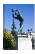 Statue of Discus Thrower, Canvas Print