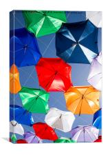 Colourful umbrellas , Canvas Print