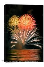 Fireworks display, Canvas Print