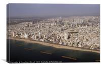 aerial photography of Tel Aviv, Israel, Canvas Print