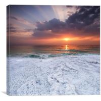 Sunrise over the Dead Sea, Israel , Canvas Print
