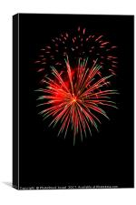 4th of July fireworks., Canvas Print
