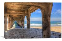 Manhattan Beach Pier , Canvas Print