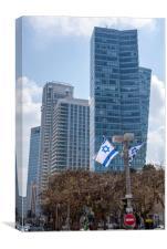 Rothschild Boulevard Tel Aviv, Canvas Print