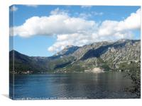Bay of Kotor, Montenegro, Canvas Print