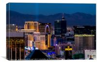 the Strip at night, Las Vegas, Canvas Print