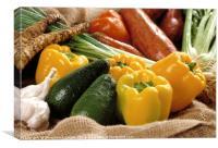 an assortment of vegetable, Canvas Print