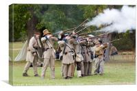 Civil War Weekend, Arkansas, USA, Canvas Print