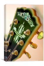 Guitar Abstract close up, Canvas Print